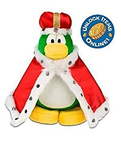 """Disney Club Penguin 6.5"""" Plush King Roi (Coin with Code Included)"""