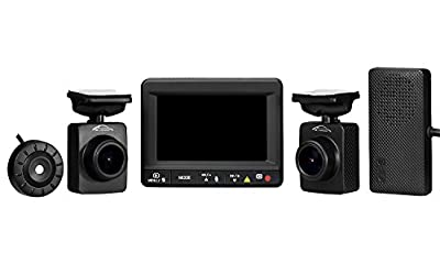 Spy Tec K1S Dual Car Dash Camera + GPS Logger | Front and Rear 1080p Remote Lens Cameras | 140 Degree lenses | 64GB microSD capacity | Ambarella A7LA70