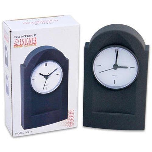Desk Clock Suntone Grey 7 Inches Height - Case Pack 40 SKU-PAS918889