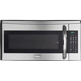 Frigidaire Gallery Series FGMV185KF1.8 cu. ft. Over-the-Range Microwave Oven with 350 CFM Venting System, 1000 Cooking Watts, 9 Auto Cook Options, Sensor Cook, 7 User Preference Options, One-Touch Options and Side Controls: Stainless Steel