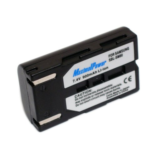 Maximal Power DB SAM SBLSM80 Replacement Battery for Samsung Digital Camera/Camcorder (Black)