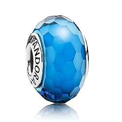 Authentic Pandora Fascinating Aqua with Murano Glass 791607