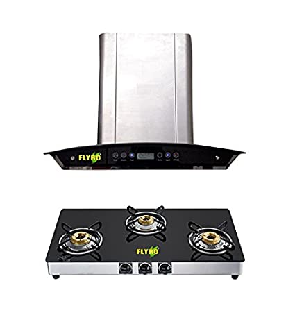 Janitor Chimney and BB-SERIES 3 Burner Cooktop