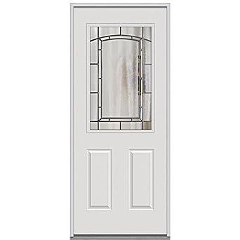 National door company erp684solpr28lh steel prehung left hand inswing entry door solstice for Exterior door replacement company
