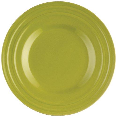 Rachael Ray Dinnerware Double Ridge Salad Plate Set, 4-Piece, Green