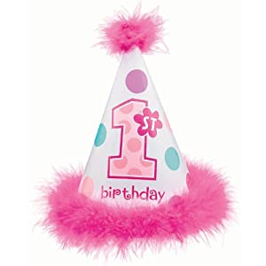 1st Brithday Cone Hat Girl by AMSCAN *