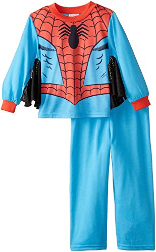 Spiderman Little Boys' Retro Spiderman 2-Piece Pajama Set, Red, 6