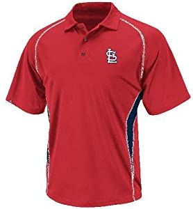 Majestic St. Louis Cardinals Athletic Advantage MLB Synthetic Polo Shirt by Majestic