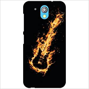 HTC Desire 526G Plus Back Cover - Fired Guitar Designer Cases
