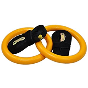 Gymnastic Rings - Premium Heavy Duty Crossfit, Gymnastics, Fitness, Exercise Rings - Gymnastics Training, Equipment- Exercise, Fitness, Bands, Straps, Rings - Home Gym Equipment - #1 Strength & Core Training Equipment- Easy to Set Up, Use, & Adjust - 60 Day Risk Free Guarantee