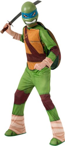 Rubies Big Boy's Halloween Leonardo Mutant Ninja Turtles Costume Lg 8-10 Yrs Old