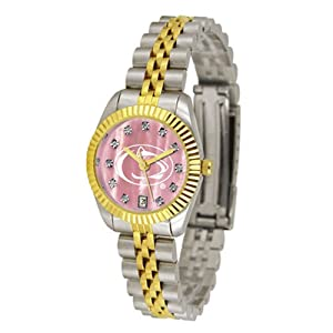 Penn State Nittany Lions NCAA Mother of Pearl Executive Ladies Watch by SunTime