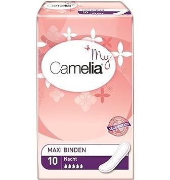 Camelia lot de de 10 serviettes maxi pour la nuit hygi ne et soins soins du corps z190 - Camelia prenom ...