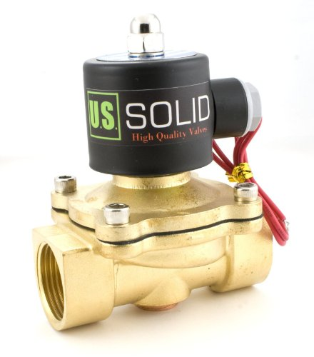 """1"""" Brass Electric Solenoid Valve 24Vac Normally Closed Viton Air Water Fuel"""