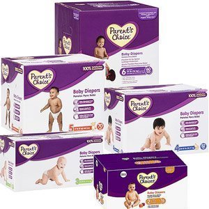 Paren't Choice Baby Diapers Box (Size 4 (pack count 82) for babies 22-37 lbs.)