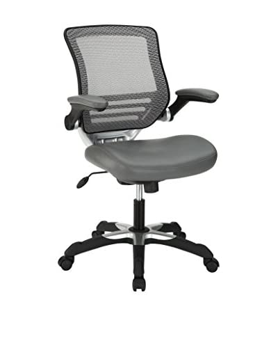 Modway Edge Vinyl Office Chair, Grey