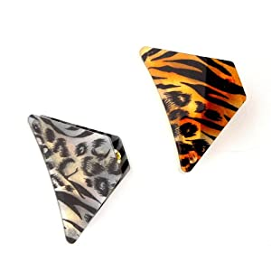 Safari Animal Print Hair Claw Clip Set of 2 For Women