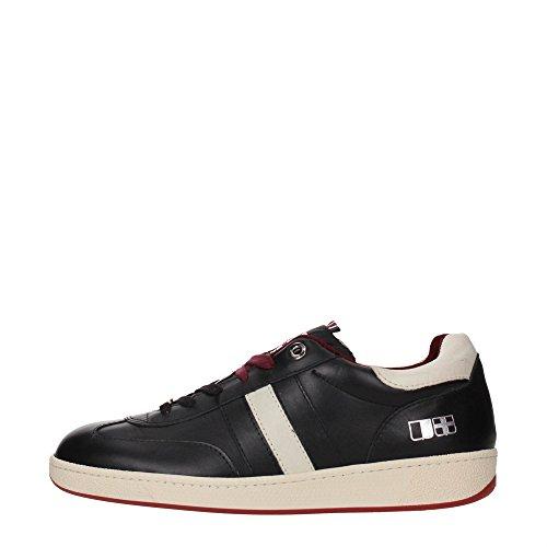 D'Acquasparta GHIBERTI U200 Sneakers Uomo Pelle BLACK BLACK 39