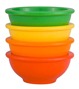 Zak Designs Colorways 4-Piece Multi-Colored Mini Prep Bowl Set