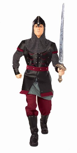 Forum Medieval Soldier Costume, Black, One Size