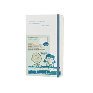 Moleskine 2014 Planner 18 Month Peanuts Weekly Notebook Large White