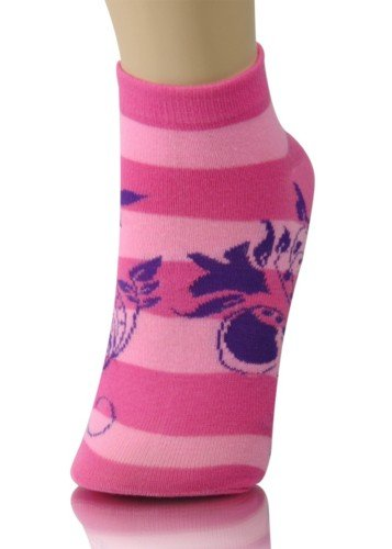cute girls with roses. PRODUCT FEATURES: Cute Girls Low Cut Socks - Striped Flower - Pink; Real attention getter. 95% Polyester,5% Spandex, Size 9 -11. Gift wrapping and messaging