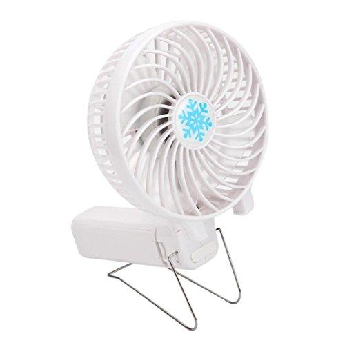 Mini Fan, Dreaman Portable Handheld Mini Air Conditioner Cooler Fan USB Battery White (Mini Fan 220v compare prices)