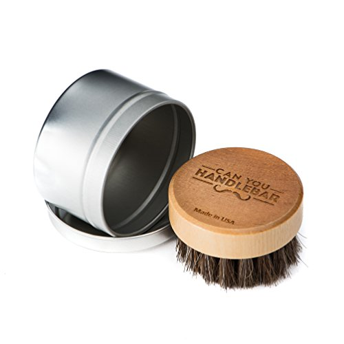 CanYouHandlebar Beard Brush with Travel Case