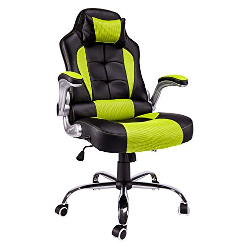 Office-Chair-Swivel-Chair-Gaming-Racing-Recliner-High-back-Thick-Padded-Black-Red-By-Aminiture