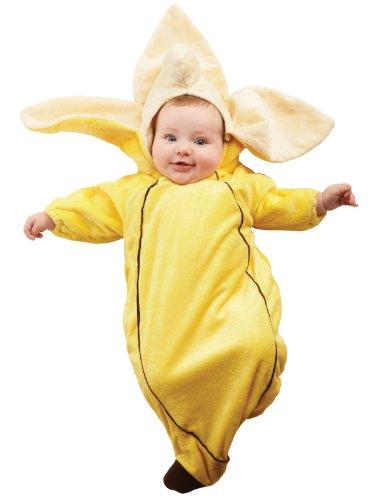 [Banana Bunting Child Costume Size 0-6 Infant] (Banana Baby Infant Costumes)