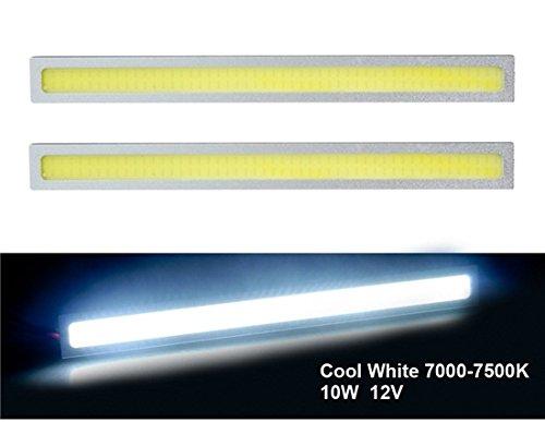 Xl-8Cm 12V 10W Diy Cob 7000-7500K 170Mm White Light Led Daytime Running Lights With Drive 2Pc Set (Silver & Yellow)