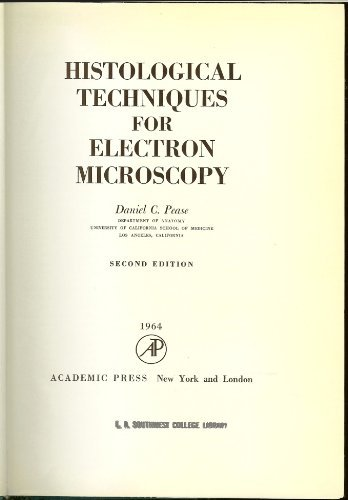 Histological Techniques For Electron Microscopy