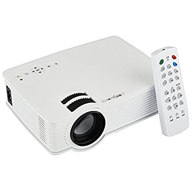 SMILEDRIVE MULTIMEDIA PROJECTOR WITH 800 LUMENS - PORTABLE HOME THEATRE PROJECTOR