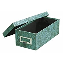 Globe-Weis Index Card Storage Box, 5x8 Inches, Green, (95 GRE)