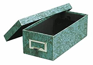 Globe-Weis Fiberboard Index Card Storage Box, 5 x 8 Inches, Green (95 GRE)