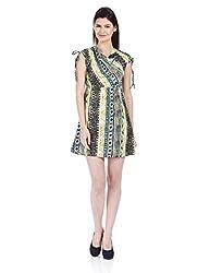 NOI Women's A-Line Silk Dress (AW13 NOI NATALIE_Blue_Small)