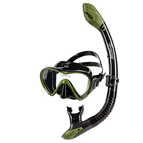Seavenger Silicone Tempered Glass Mask Dry Top Snorkel Combo Set