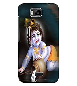 ColourCraft Lord Krishna Design Back Case Cover for HUAWEI HONOR BEE