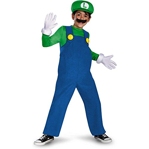 Morris Costumes Halloween Party Mario Luigi Deluxe Boys 4-6