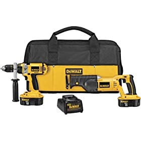 DEWALT DCK241X 18V Cordless XRP™ Hammerdrill / Reciprocating Saw Combo Kit