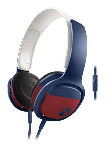Philips Sho3305Board/28 O'Neill Cruz Headband Headphones, Blue/Red