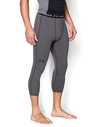Under Armour Men's HeatGear Armour ¾ Compression Leggings, Carbon Heather/Black, Medium (Under Armour Capri Workout Pants compare prices)