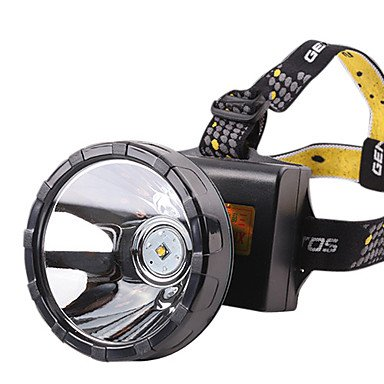 HBJ Xinyuanlai 8815 2 Modes Waterproof Rechargeable Headlamp(3x18650,Black,Yellow Light)