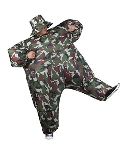 Camouflage Inflatable Camosuit Mens Party Costume