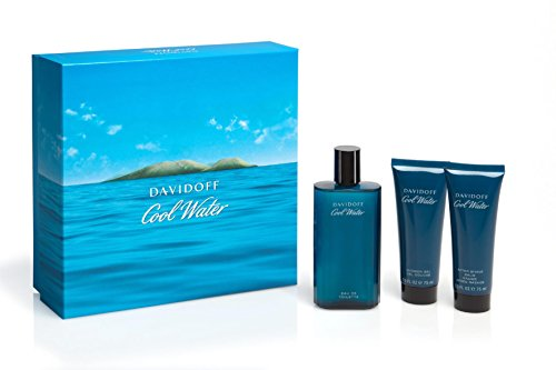 Davidoff Cool Water Confezione Regalo 125ml EDT + 75ml Balsamo Dopobarba + 75ml Gel Doccia