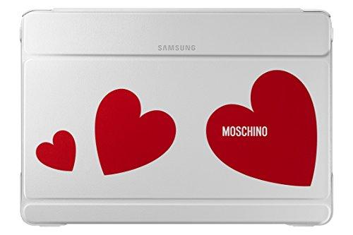 Samsung EF-EP900BREGWW Custodia Folio per Samsung Galaxy Note Pro 12.2 Moschino, Bianco/Rosso Cuori