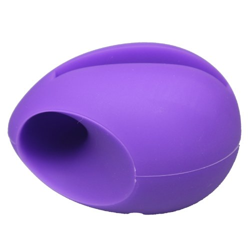 Niceeshop(Tm) Purple Egg Shaped Silicon Stand Amplifier For Iphone 5 5S With Accessory Cable Tie