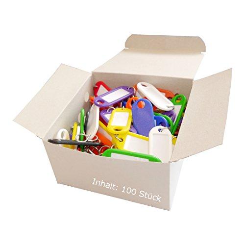 Wedo 262 803499 - Llaveros con etiqueta (100 unidades), varios colores