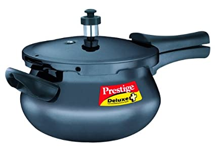 Prestige-Deluxe-Plus-Mini-Handi-Hard-Anodized-3.3-L-Pressure-Cooker-(Induction-Bottom,-Outer-Lid)