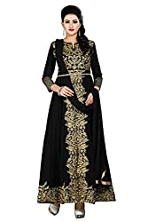 Indian Boutique Black Color Georgette Fabric Heavy Embroidered Salwar Suit